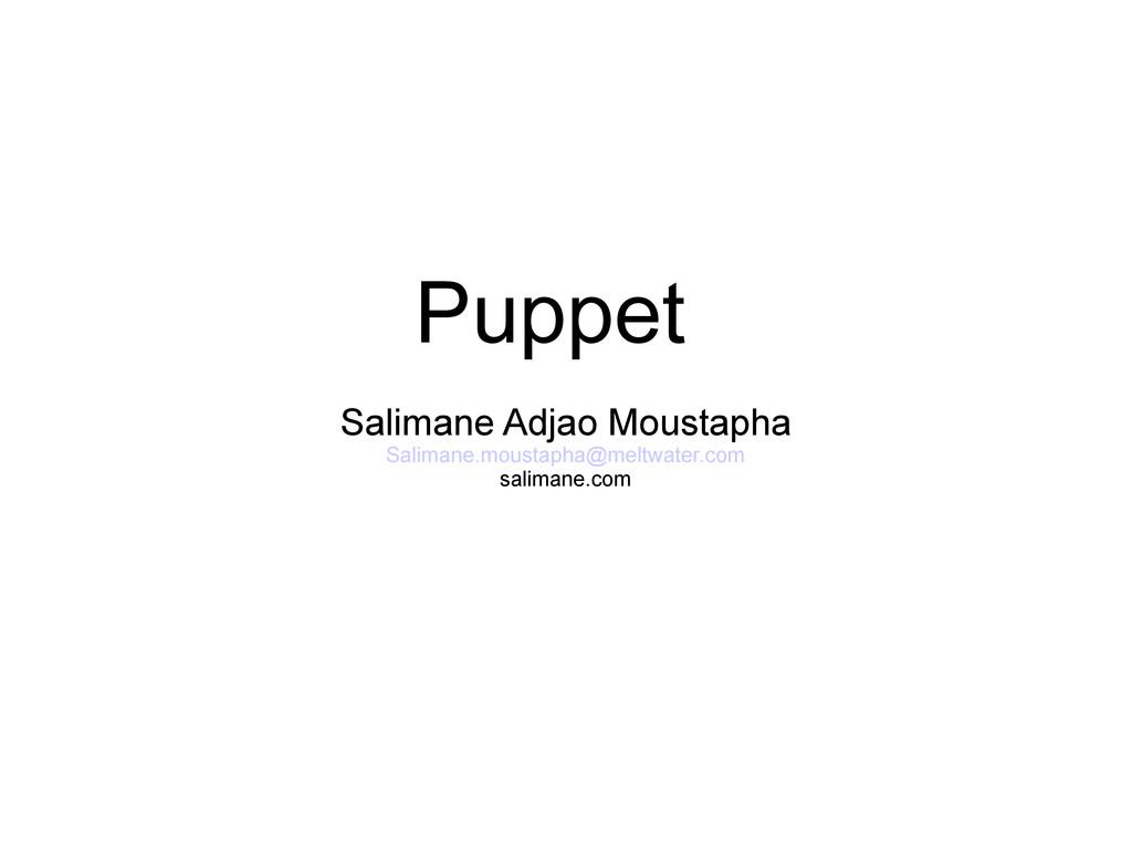 Puppet Salimane Adjao Moustapha Salimane.mousta...