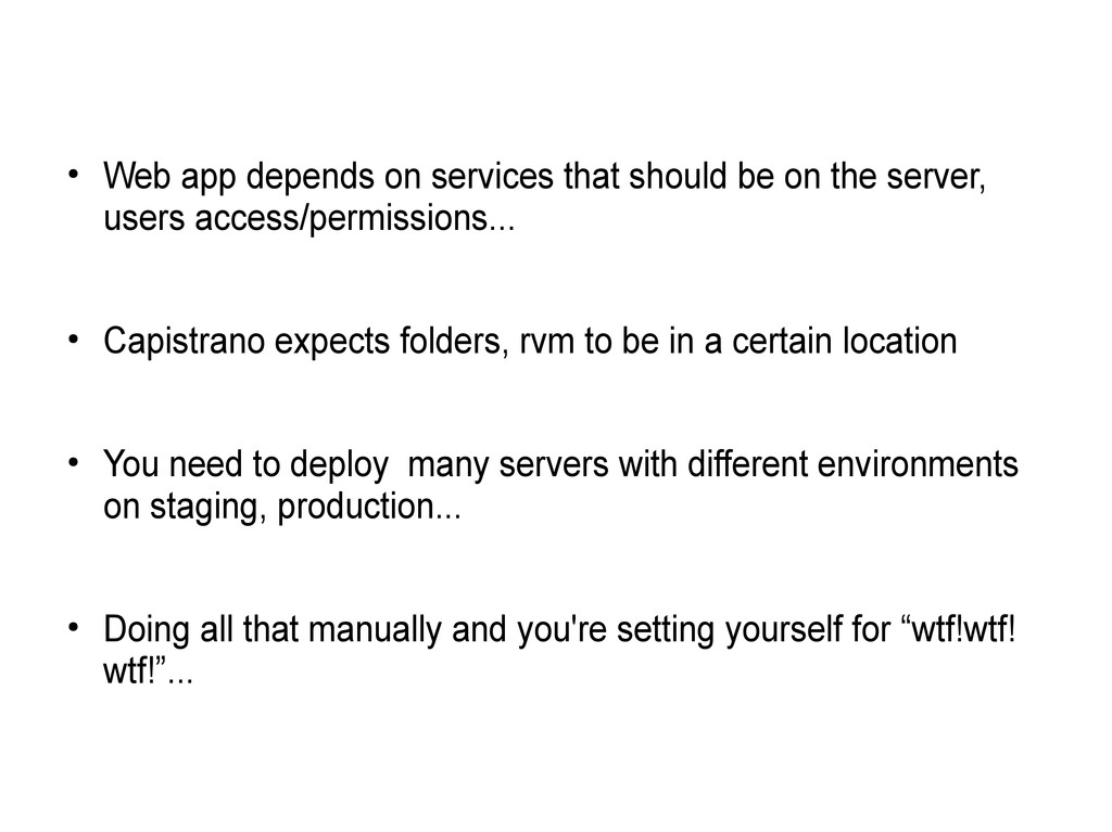 ● Web app depends on services that should be on...