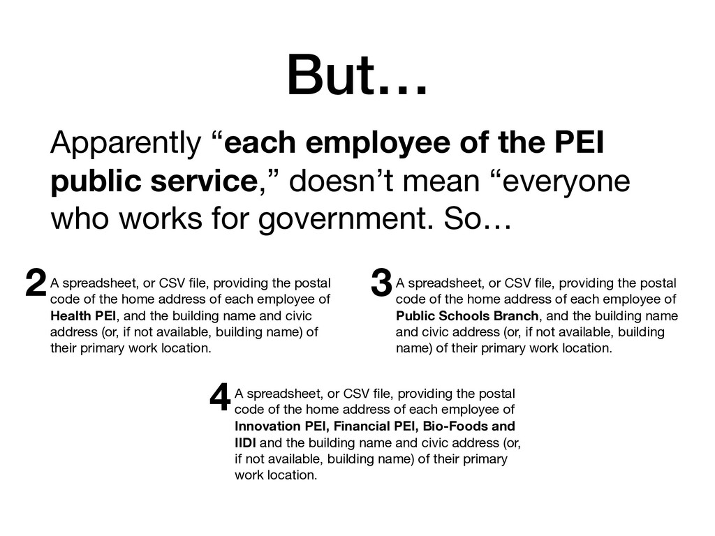 "But… Apparently ""each employee of the PEI publi..."