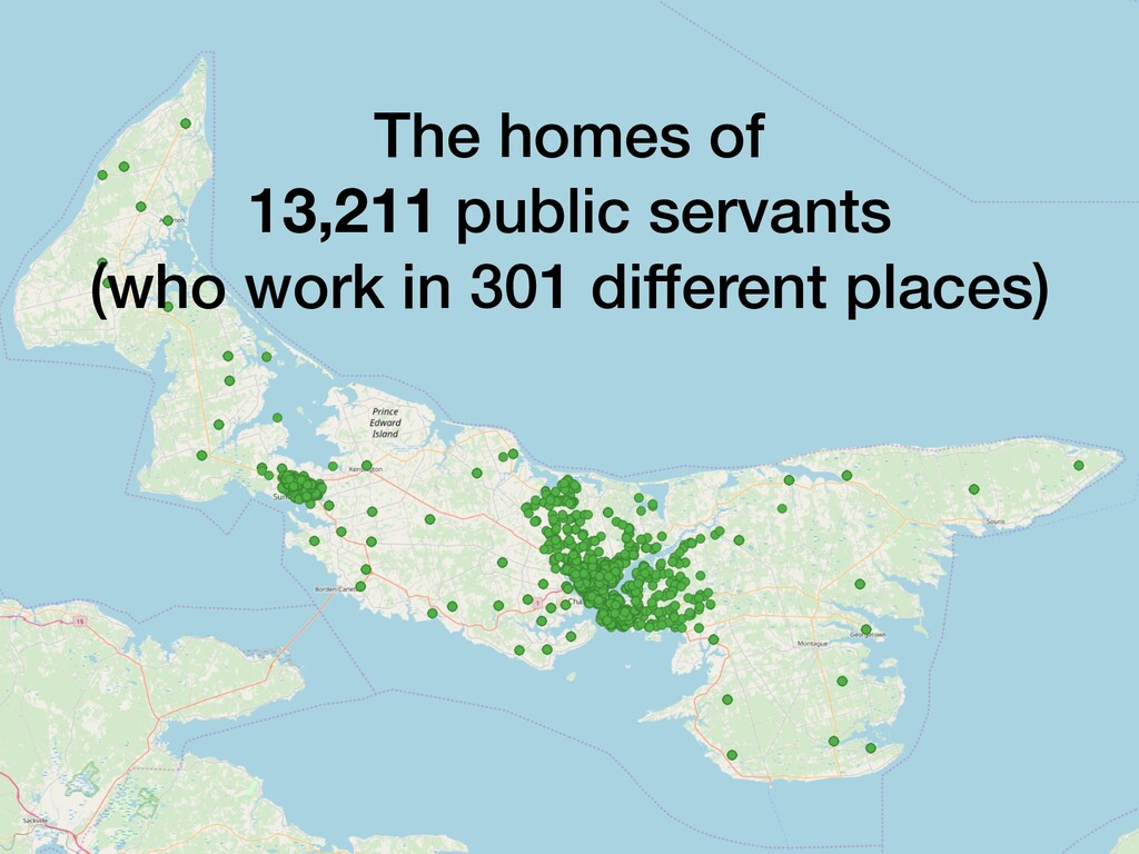 The homes of 13,211 public servants (who work i...