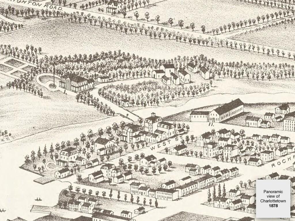 Panoramic view of Charlottetown 1878