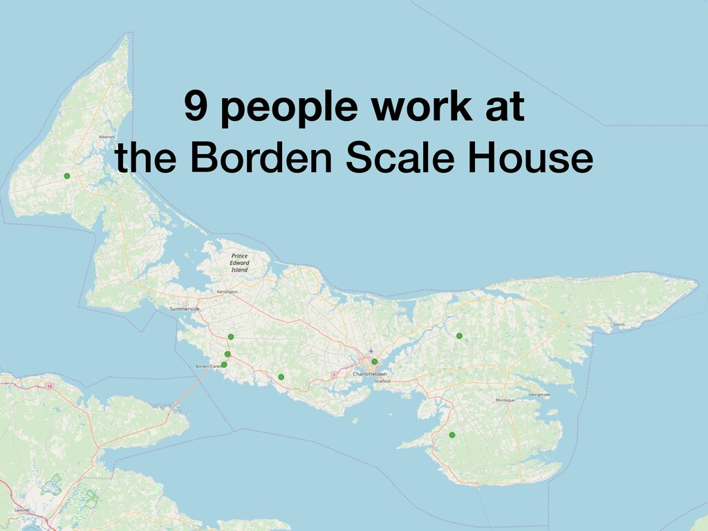 9 people work at the Borden Scale House