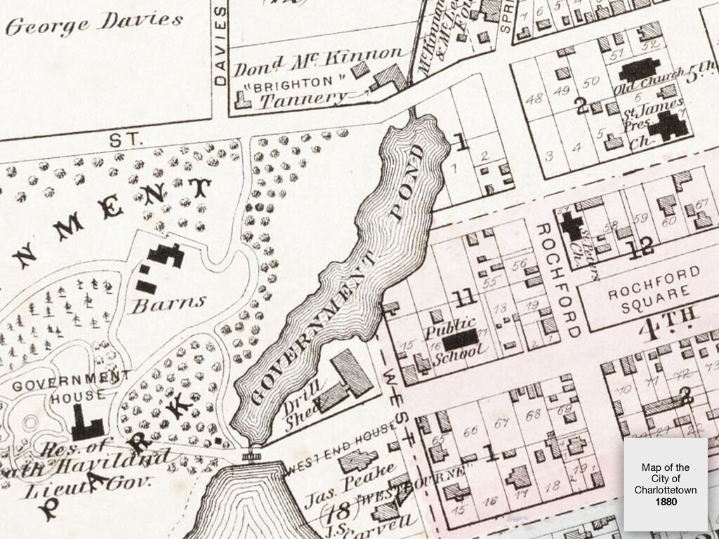 Map of the City of Charlottetown   1880