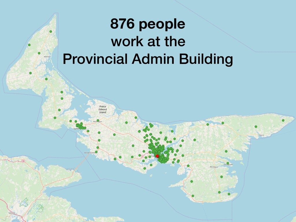 876 people work at the Provincial Admin Building