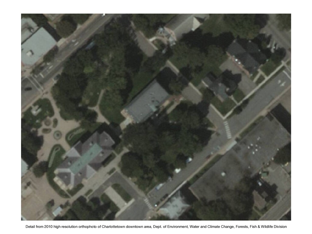 Detail from 2010 high resolution orthophoto of ...