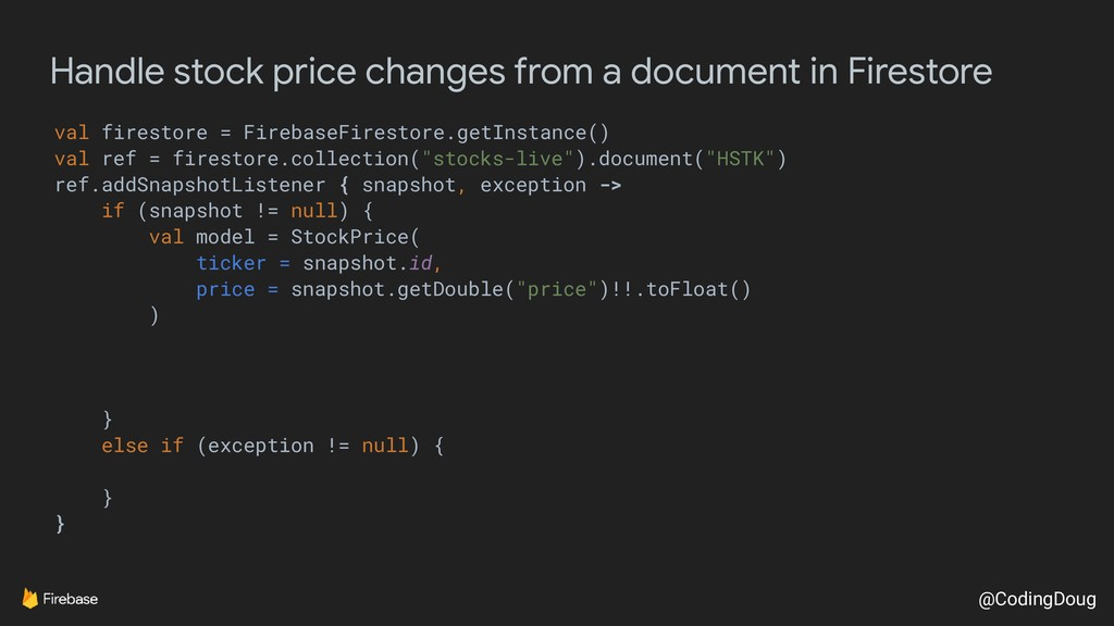 @CodingDoug Handle stock price changes from a d...