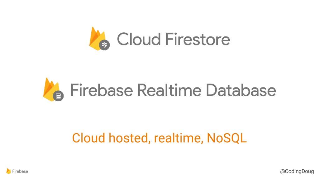 @CodingDoug @CodingDoug Cloud hosted, realtime,...