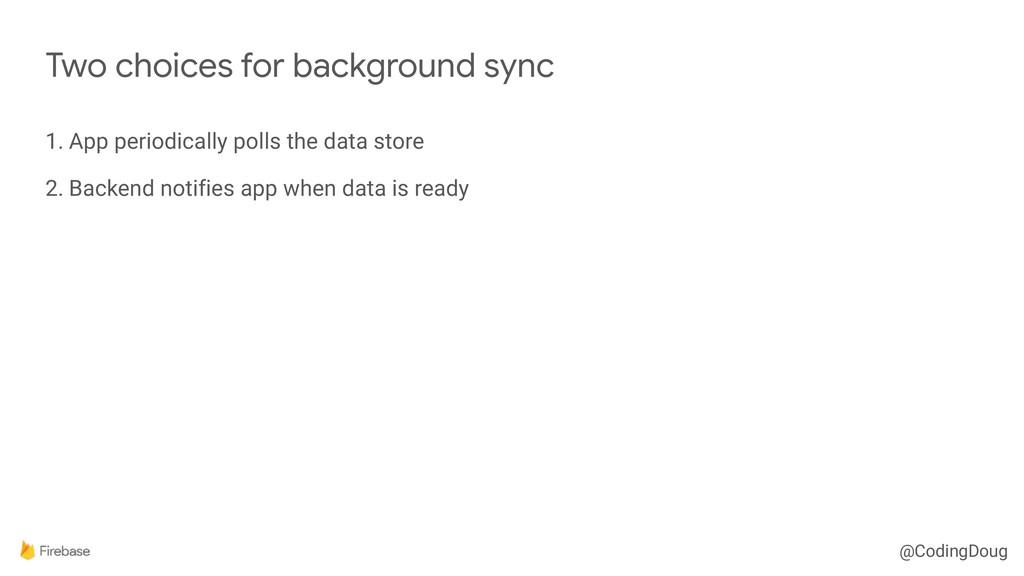 @CodingDoug 1. App periodically polls the data ...