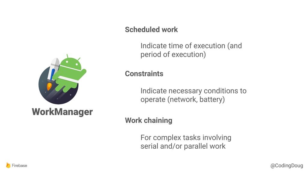 @CodingDoug WorkManager Scheduled work Indicate...