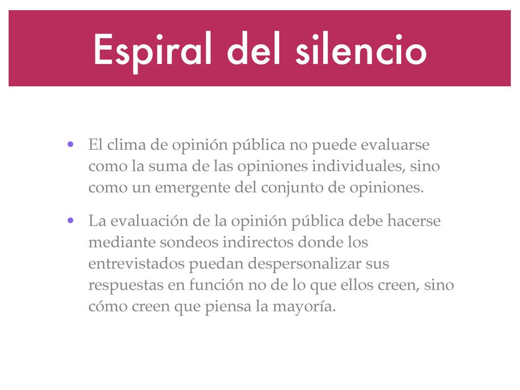 Espiral del silencio • El clima de opinión públ...
