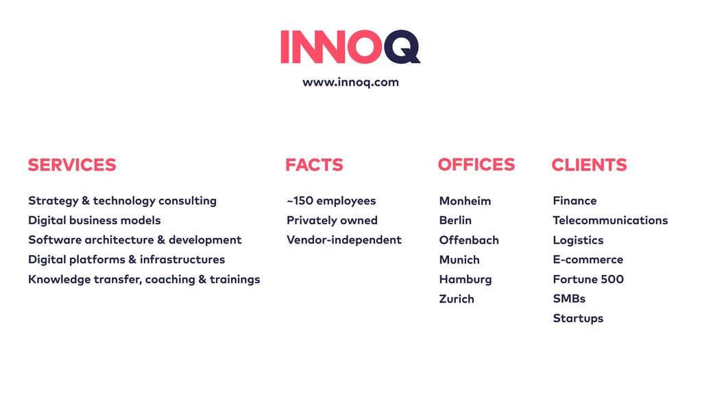 www.innoq.com OFFICES Monheim Berlin Offenbach ...