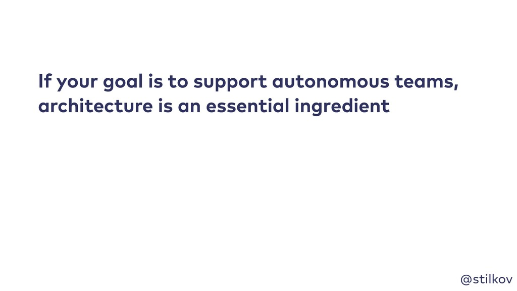 @stilkov If your goal is to support autonomous ...