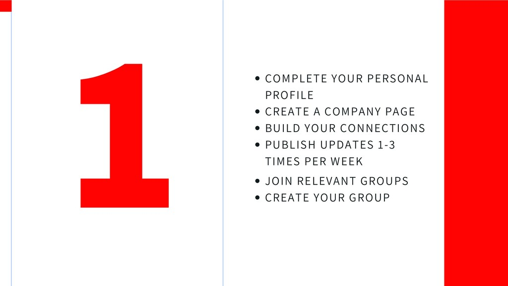 COMPLETE YOUR PERSONAL PROFILE CREATE A COMPANY...