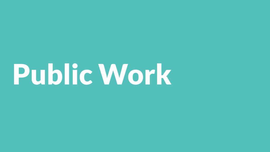 Public Work