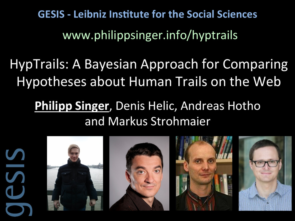 GESIS -‐ Leibniz Ins.tute for t...