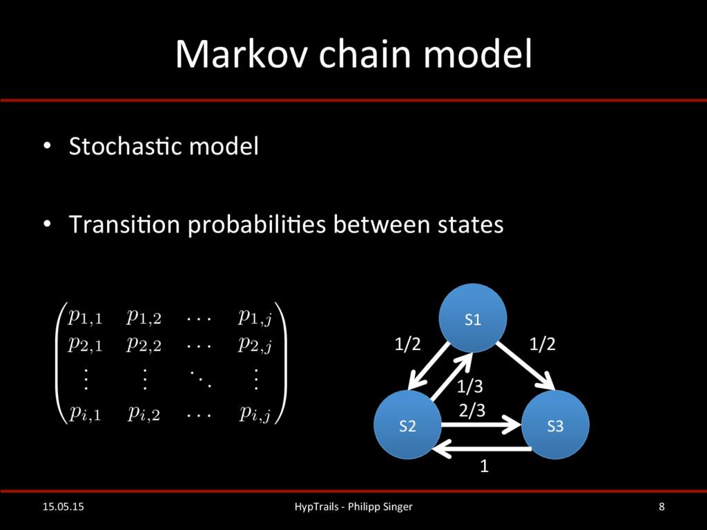 Markov chain model  • StochasRc mo...