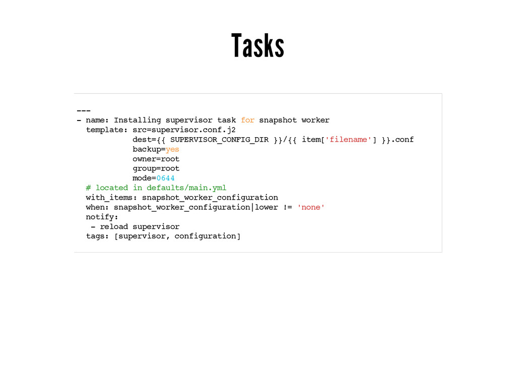 Tasks --- - name: Installing supervisor task fo...