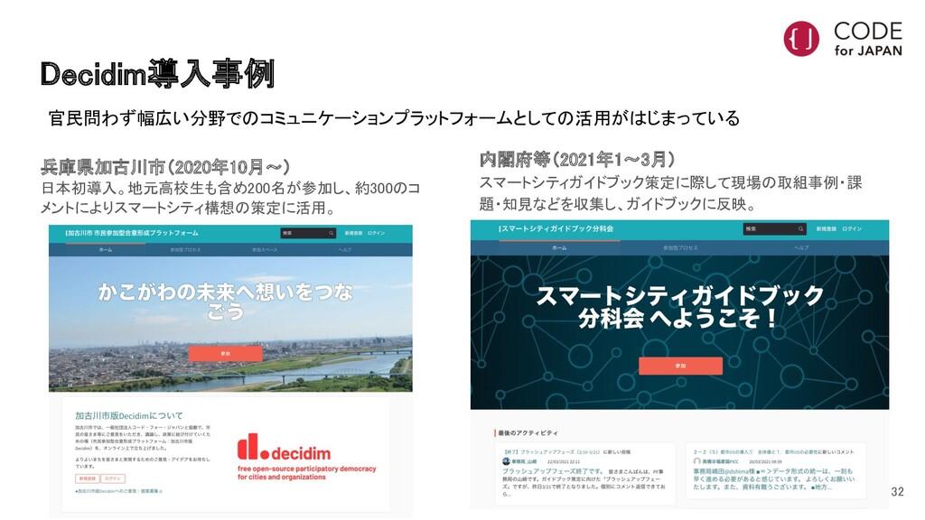 Decidim導入事例 兵庫県加古川市(2020年10月〜)  日本初導入。地元高校生も含...
