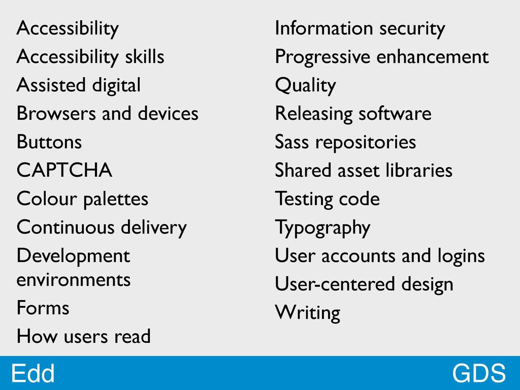 GDS Edd Accessibility Accessibility skills Assi...