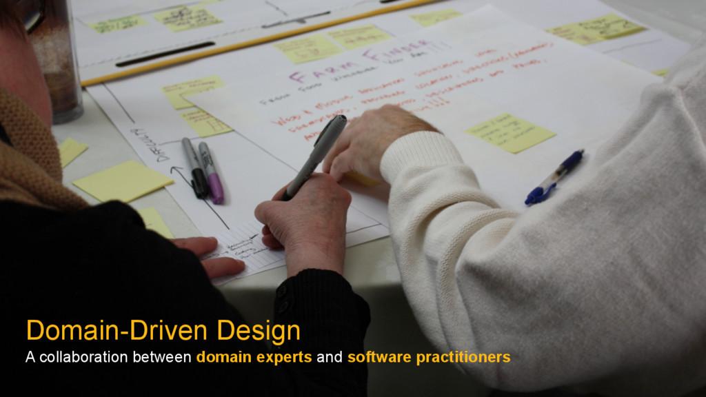 Domain-Driven Design A collaboration between do...