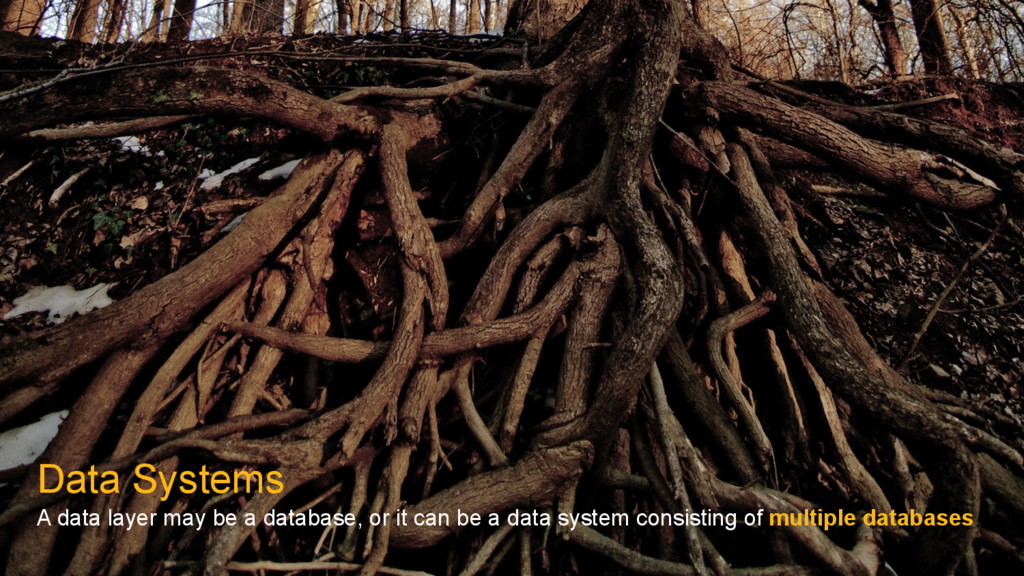 Data Systems A data layer may be a database, or...