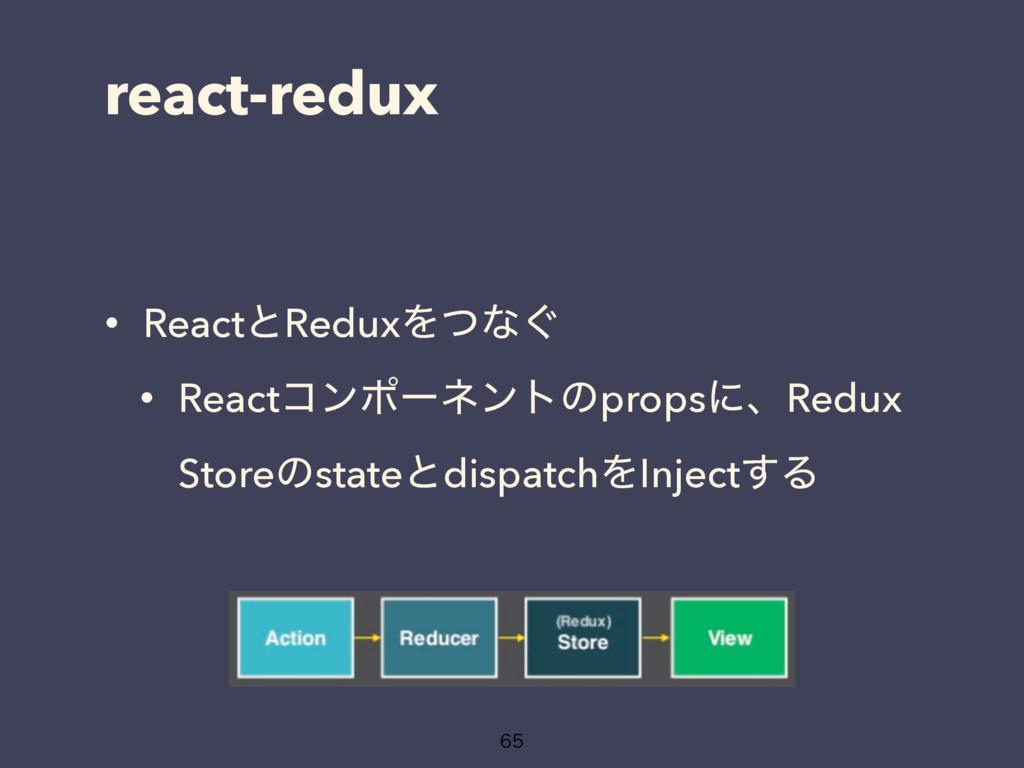 react-redux • ReactͱReduxΛͭͳ͙ • Reactίϯϙʔωϯτͷpr...
