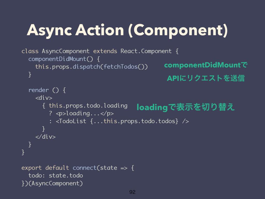 Async Action (Component)  class AsyncComponen...