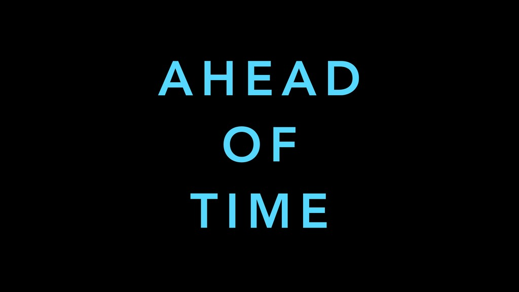 @yanaga 11 Quarkus is AHEAD OF TIME