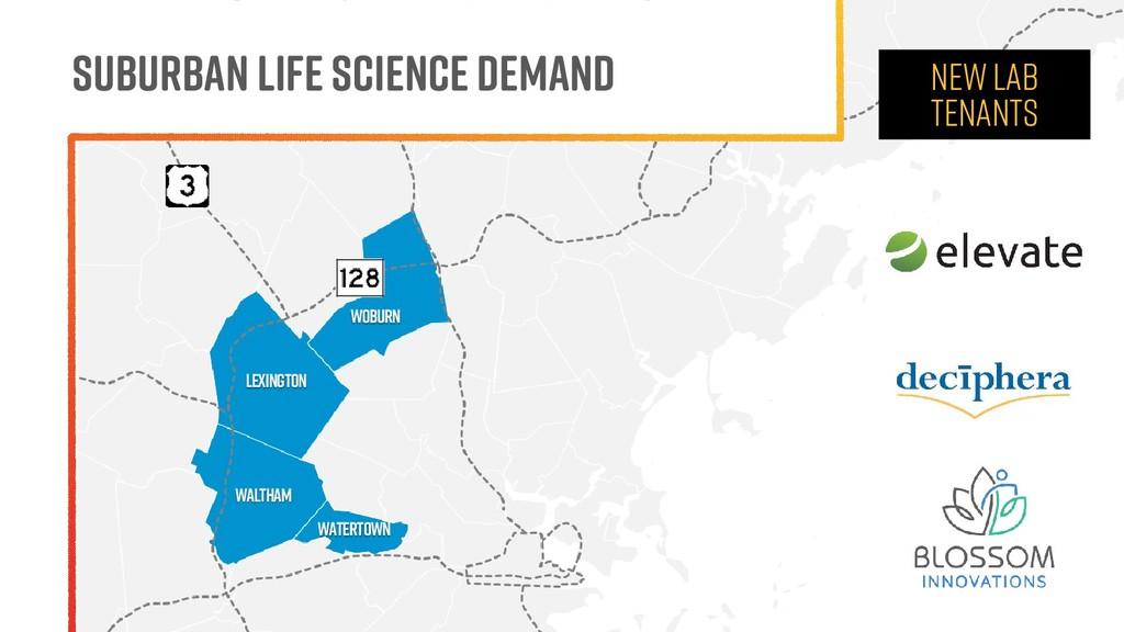 Suburban Life Science Demand NEW LAB TENANTS WO...