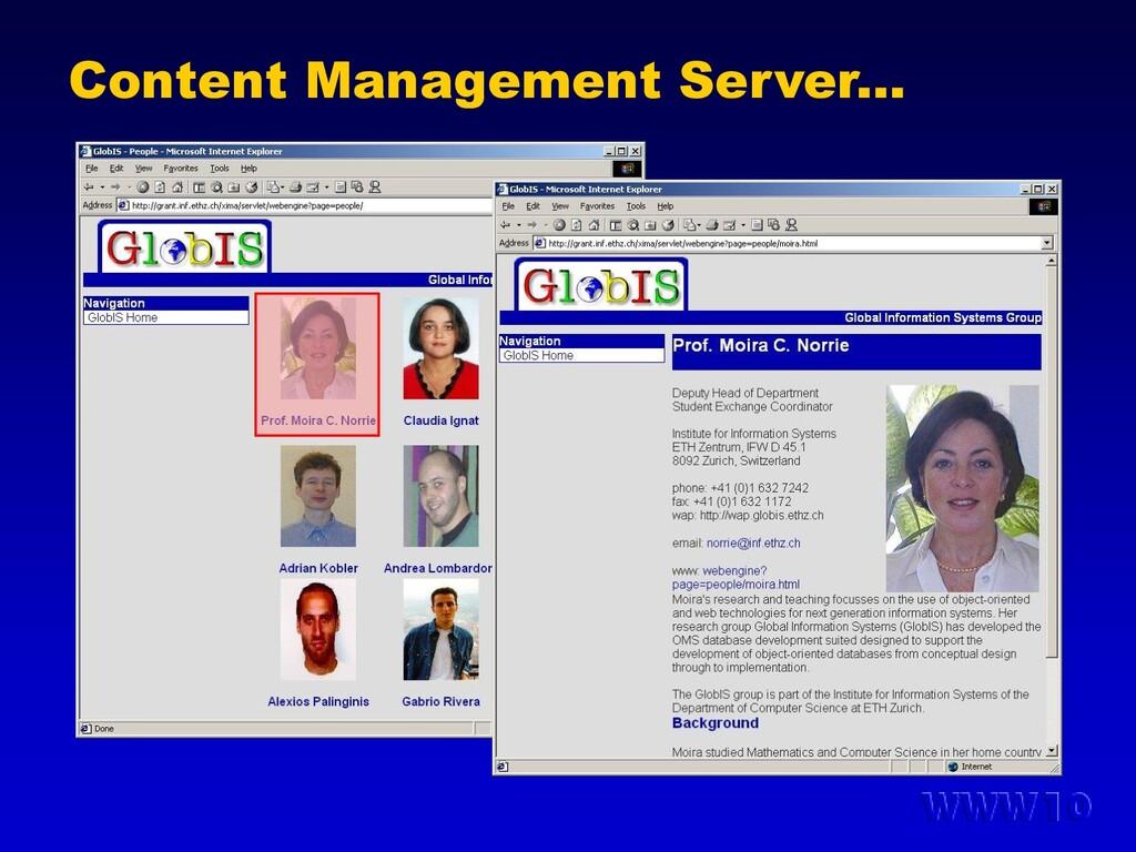 Content Management Server...