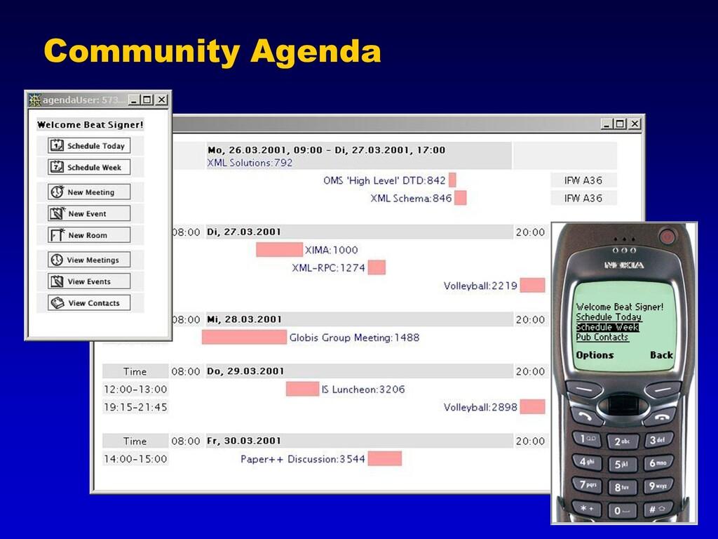 Community Agenda