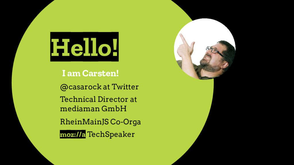 Hello! I am Carsten! @casarock at Twitter Techn...