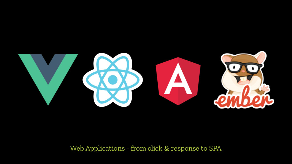 Web Applications - from click & response to SPA