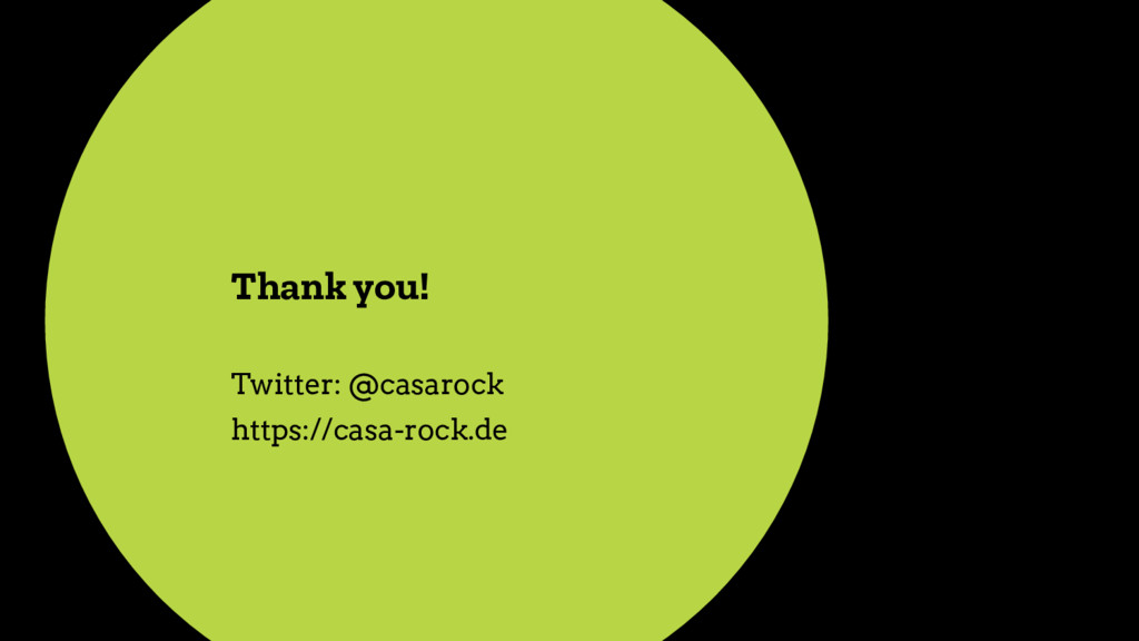 Thank you! Twitter: @casarock https://casa-rock...
