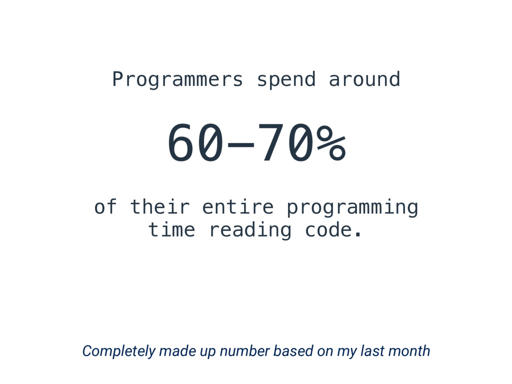 Programmers spend around 60-70% of their entire...