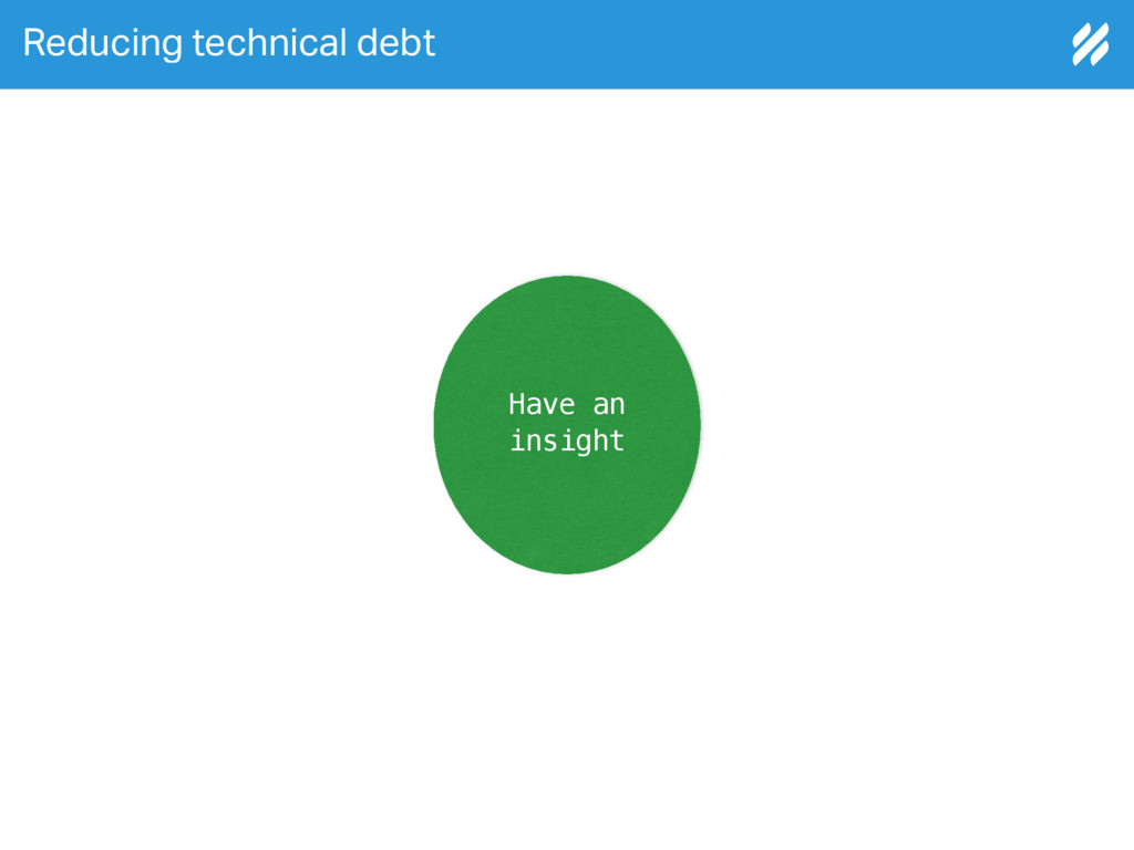 Reducing technical debt Have an insight