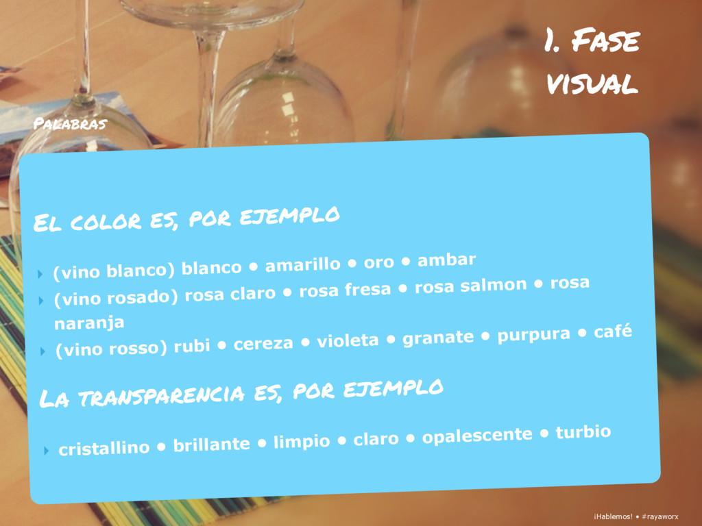 ¡Hablemos! • #rayaworx 1. Fase visual ¡Hablemos...