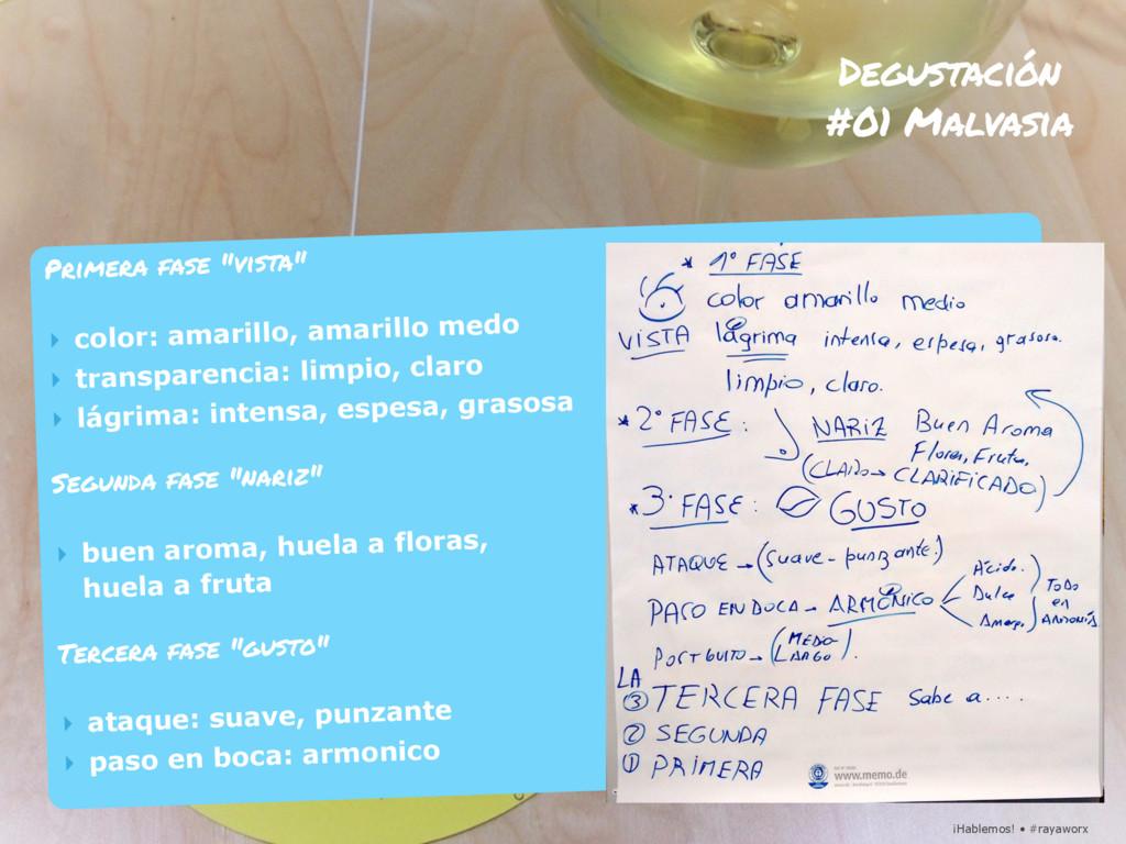 ¡Hablemos! • #rayaworx Degustación #01 Malvasia...