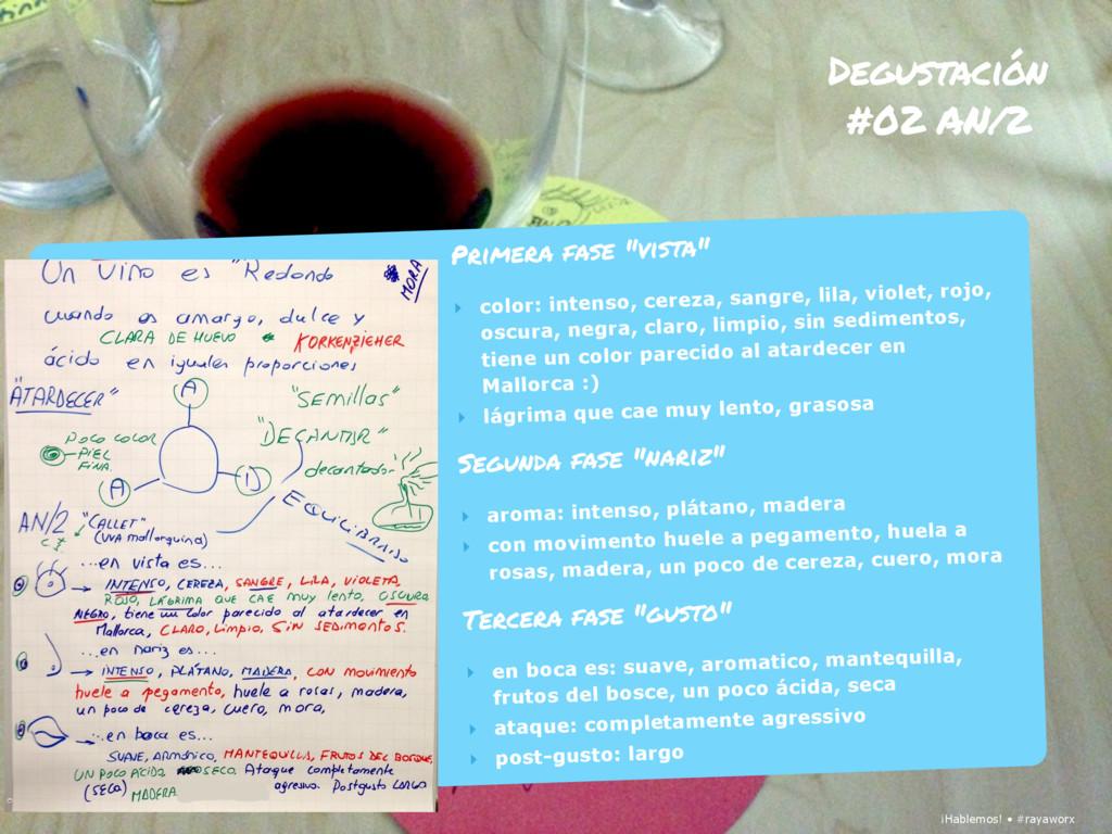 ¡Hablemos! • #rayaworx Degustación #02 AN/2 ¡Ha...