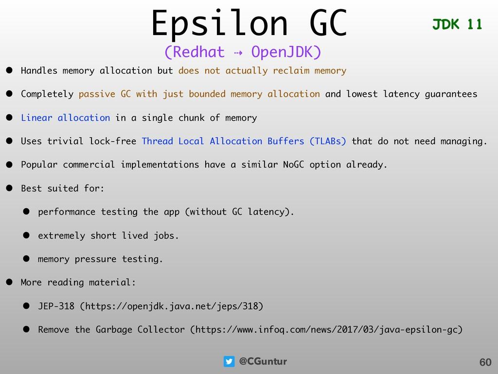 @CGuntur Epsilon GC • Handles memory allocation...