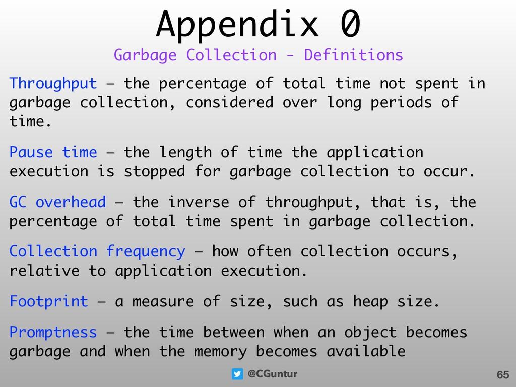 @CGuntur Appendix 0 Throughput — the percentage...