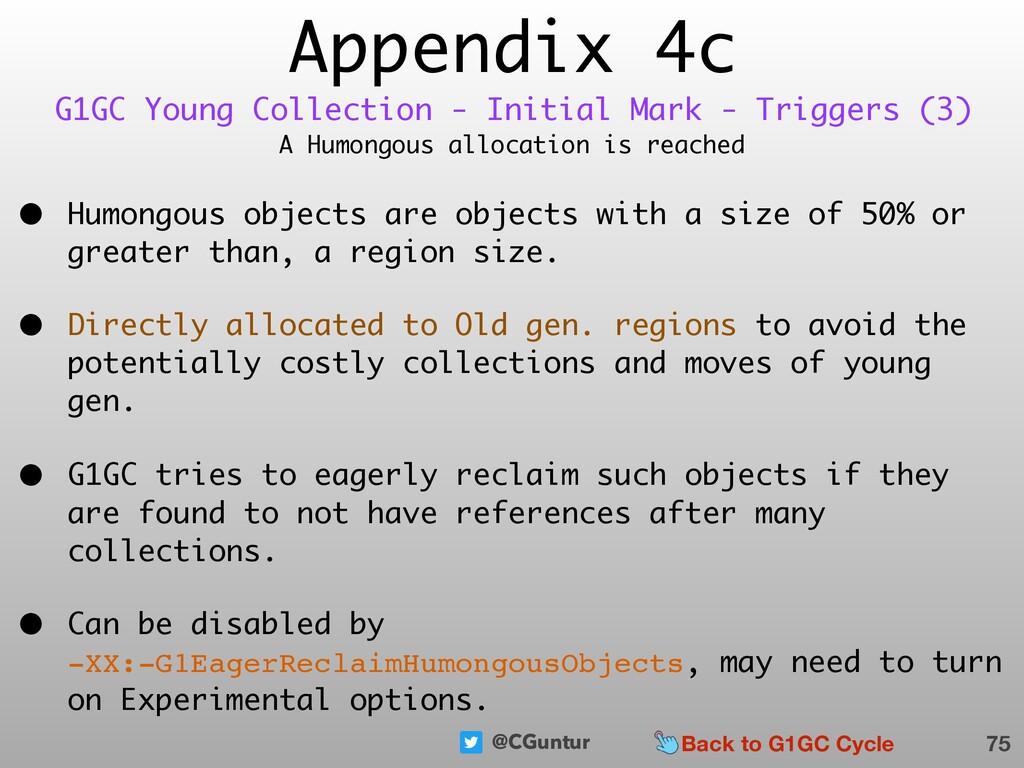 @CGuntur Appendix 4c A Humongous allocation is ...