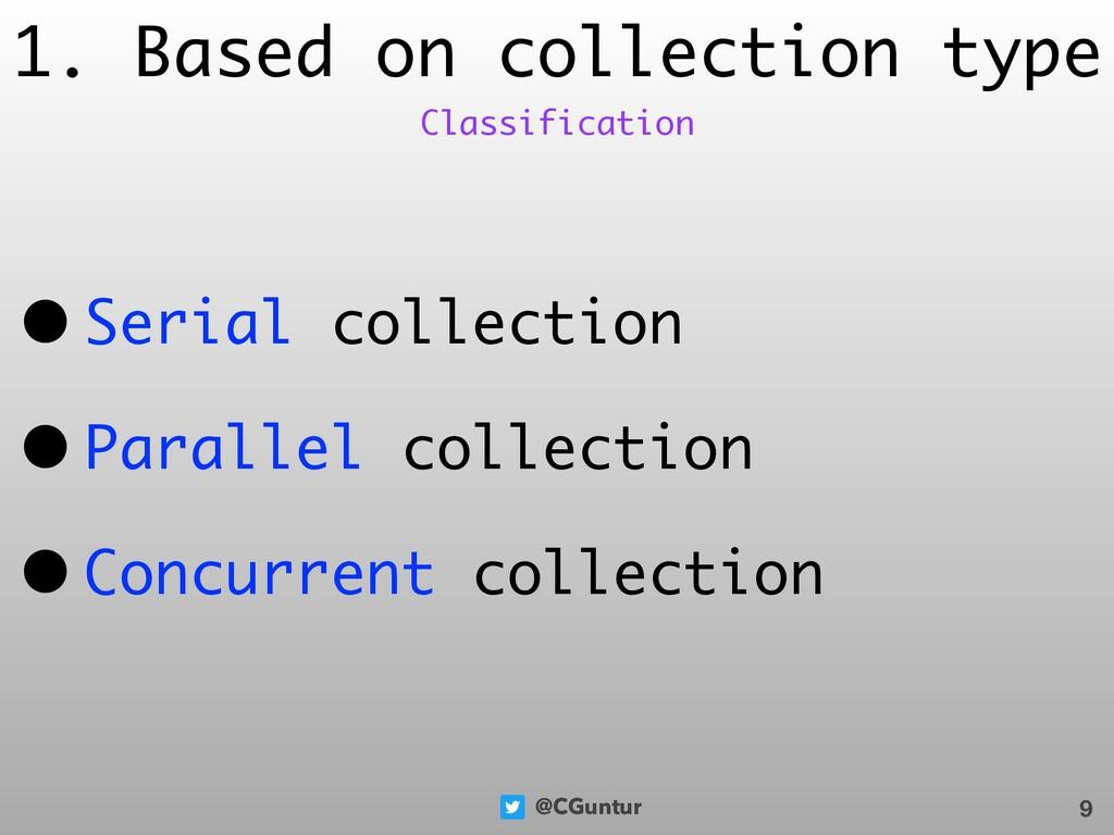 @CGuntur 1. Based on collection type • Serial c...