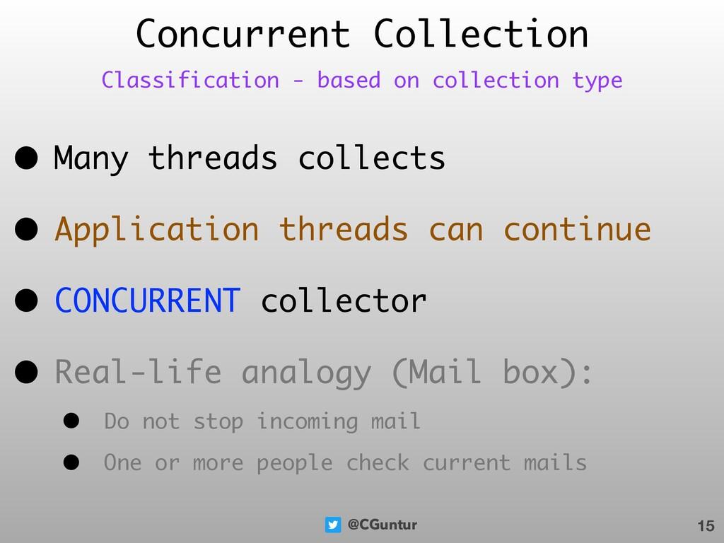 @CGuntur Concurrent Collection • Many threads c...