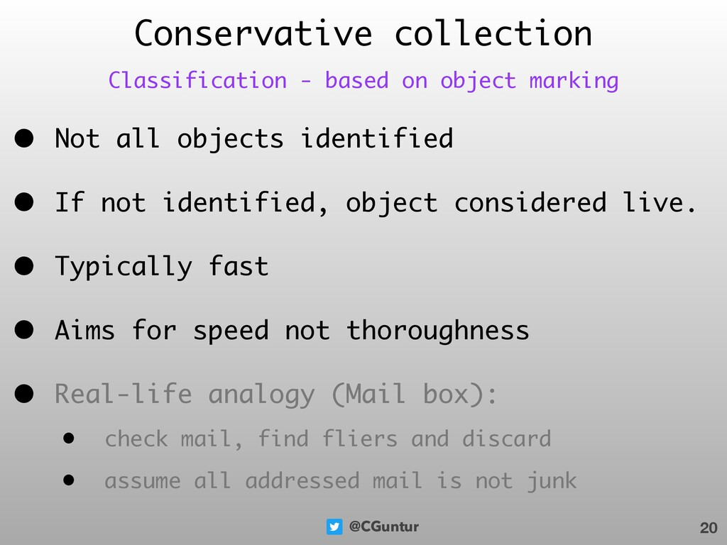 @CGuntur Conservative collection • Not all obje...