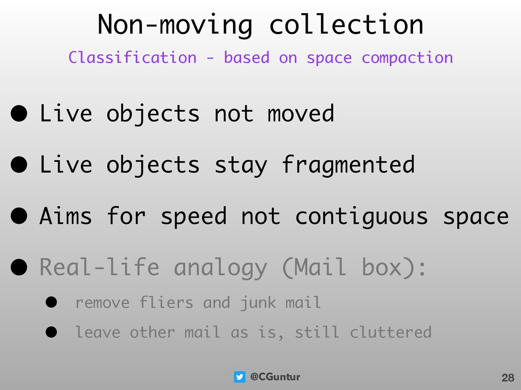 @CGuntur • Live objects not moved • Live object...