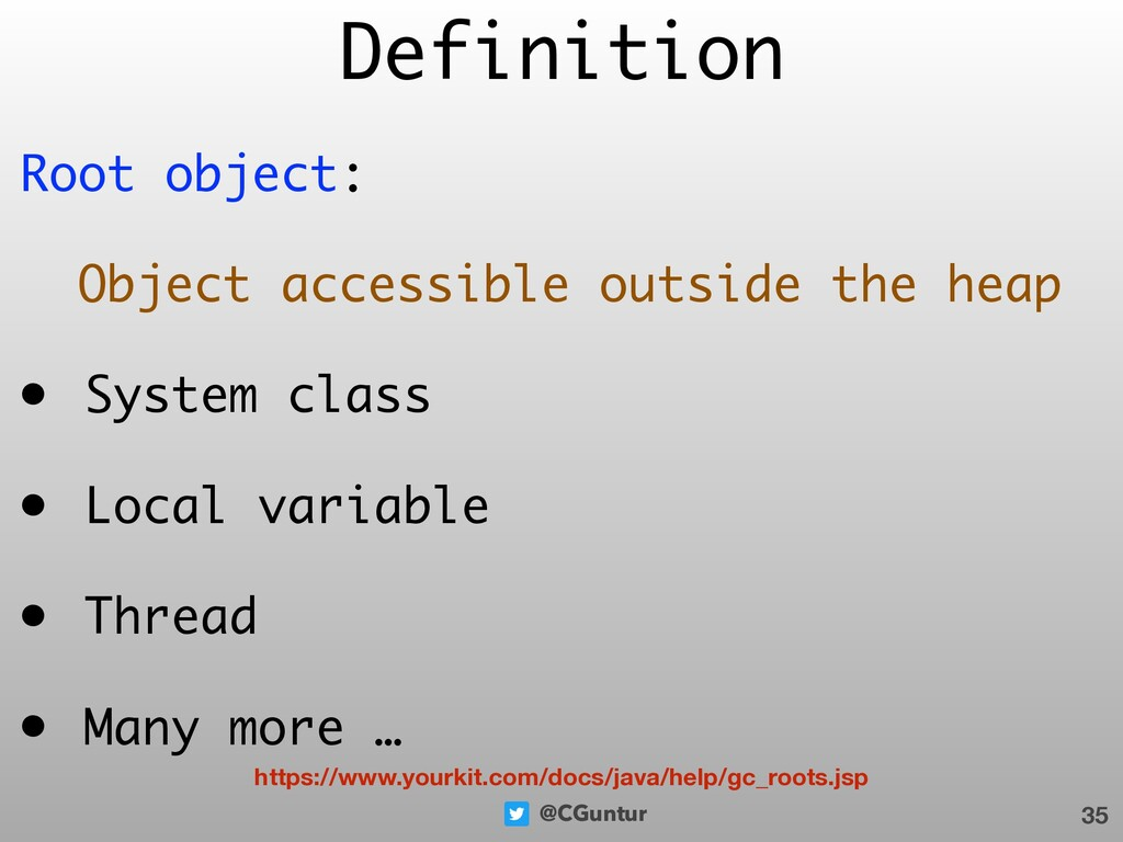@CGuntur Root object: Object accessible outside...