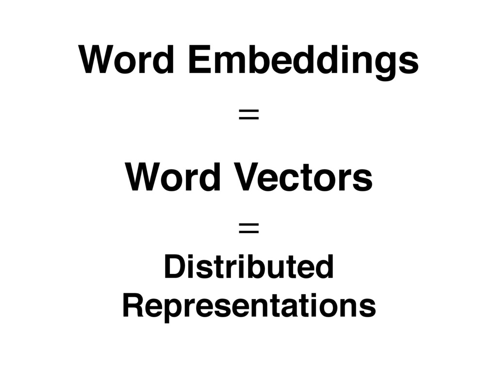 Word Embeddings Word Vectors Distributed Repres...