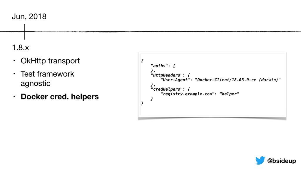 1.8.x • OkHttp transport  • Test framework agn...