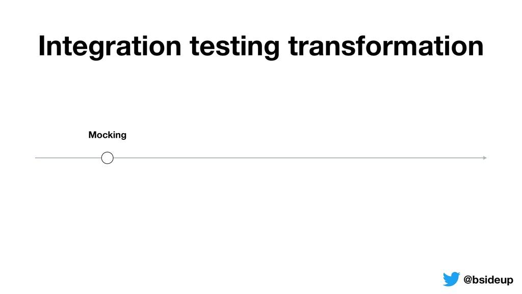 Mocking Integration testing transformation @bsi...